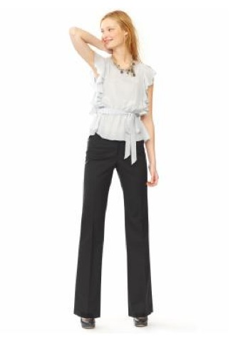 Ruffle Top Wide Leg Pant - BR