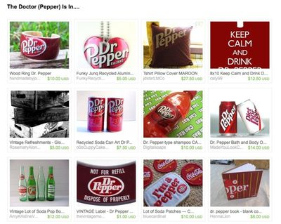 The doctor pepper is in